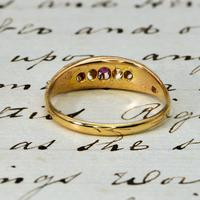 The Early 20th Century Ruby & Old European Cut Diamond Ring (3 of 3)