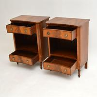 Pair of Antique Regency Style Mahogany Bedside Cabinets (9 of 10)