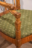 19th Century Carved Armchair in Satin Birch & Satinwood (7 of 7)