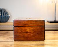Burr Walnut Work Box Victorian 1870 (5 of 9)