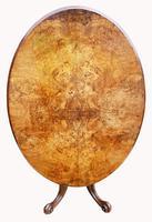 Victorian Burr Walnut Loo Table (2 of 6)
