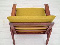 "Danish Design by Illum Wikkelsø Armchair ""Capella"" Series, 70s, Teak, Renovated-reupholstered (11 of 13)"