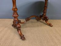 Victorian Burr Walnut Stretcher Table (9 of 13)