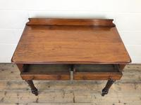 Antique Victorian Mahogany Two Drawer Side Table (10 of 15)