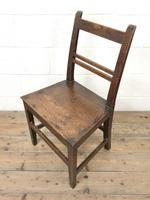Selection of Six 19th Century Welsh Oak Farmhouse Kitchen Chairs (7 of 10)