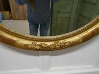 Large French Rococo Oval Gilt Wall Mirror (8 of 9)