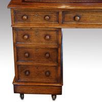 Victorian Oak Partners Desk (3 of 12)
