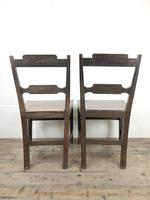 Pair of Welsh Oak Bar Back Farmhouse Chairs (3 of 15)
