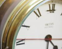 Superb Antique English Smiths Bulkhead Wall Clock 8 Day Ships Clock (2 of 11)