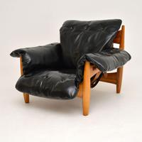 "Vintage ""Sheriff"" Leather Armchair by Sergio Rodrigues for ISA (9 of 12)"