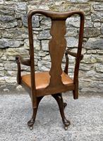 Antique Mahogany Swivel Office Desk Chair (4 of 12)