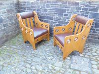 Pair of Arts & Crafts Chairs - Goodyers (8 of 9)
