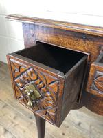 Antique 19th Century Carved Oak Lowboy Side Table (14 of 17)