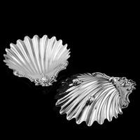 Antique Victorian Solid Silver Pair of Butter Dishes, Shell Design - Josiah Williams & Co 1894 (6 of 13)