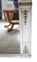 19th Century overmantle wall floor mirror painted (6 of 7)