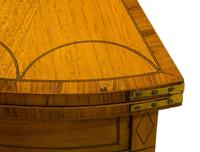 Pair of George III Style Satinwood Card Tables (4 of 15)
