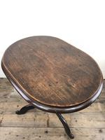 Antique Victorian Mahogany Oval Top Side Table (9 of 10)
