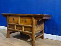 Chinese 19th Century Elm Altar Prayer Coffee Table 'Qing Dynasty' (8 of 8)