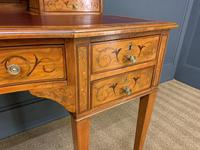 Inlaid Satinwood Carlton House Desk by Jas Shoolbred (19 of 25)
