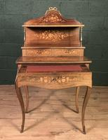 French Inlaid Rosewood Ladies Writing Table (7 of 8)