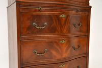 Antique Georgian Style Mahogany Serpentine Fronted Chest on Chest (6 of 10)