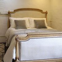 Louis XVI Style Bed with Upholstered Panels (2 of 10)