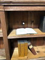 Oak Breakfront Open Bookcase (20 of 20)
