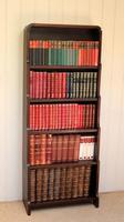 Oak Art Deco Open Bookcase (5 of 10)