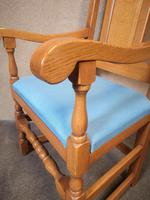 Pair of Oak Reproduction High Back Armchairs (2 of 11)