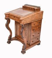 Victorian Davenport Desk Walnut Inlay c.1860 (2 of 14)