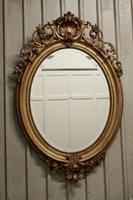A Very Large French Rococo Oval Gilt Wall Mirror (4 of 10)