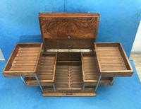Victorian Brassbound Walnut Cigar Box (2 of 19)