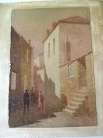 """Arthur White , St Ives School Watercolour """" Village """"  1 of 2 listed. (3 of 3)"""