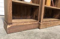 Oak Breakfront Open Bookcase (8 of 20)