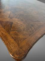 French Parquetry Extending Dining Table Oak & Walnut (8 of 10)