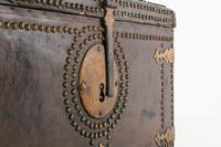 18th Century Leather Bound Spanish Trunk (4 of 9)