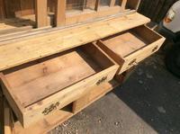 Very Large Antique Pine Dresser Sliding Glazed Doors (9 of 10)