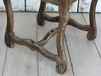 Six Oak & Rush Seated Os De Mouton Dining Chairs (6 of 8)