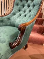 Mid Victorian Rosewood Library Armchair (3 of 5)