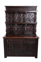 Large 18th Century Antique Carved Oak Dresser c.1740