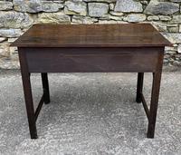Antique Georgian Oak Side Table (3 of 14)
