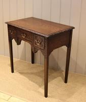 Early 19th Century Carved Oak Lowboy (8 of 11)