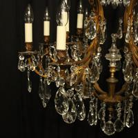 French Gilded Bronze & Crystal Chandelier (3 of 5)