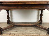 Extending Oak Draw Leaf Refectory Dining Table (12 of 17)