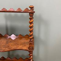 Fine Quality Small Victorian Figured Walnut Antique Whatnot (5 of 5)
