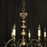 French Silver Plated 8 Light Mid 20th Century Chandelier (5 of 10)