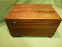 Unisex Rosewood Jewellery Box. Front Drawer. C1830. (7 of 11)