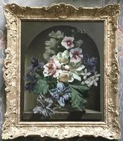 Bennett Oates Oil Painting ' flowers in an alcove' (2 of 4)