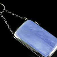 Antique Solid Silver Blue Enamel Guilloche Cigarette Case - Robert Chandler 1916 (13 of 15)