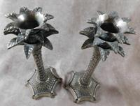 Pair of Candlesticks in the Shape of Palm Trees (2 of 4)